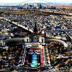 VUE 1 DE LA TOUR EIFFEL SUR LE TROCADÉRO ET LA DÉFENSE DE PARIS : ESPRIT LIBRE PHOTO DU MONDE