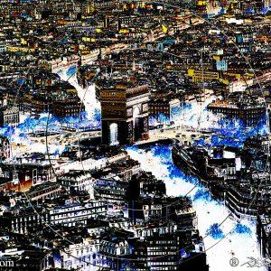 VUE 2 DE LA TOUR EIFFEL SUR L'ARC DE TRIOMPHE DE PARIS 1D : ESPRIT LIBRE PHOTO DU MONDE