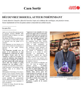 Article OUEST France - ESPRIT LIBRE : SORCIÈRE ASPIC et le CHÂTEAU des SORTILÈGES